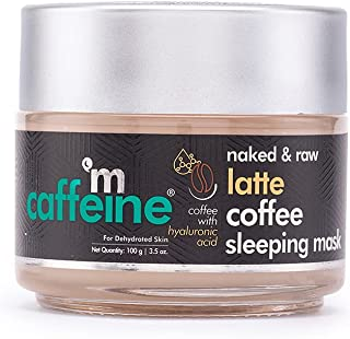 mCaffeine Latte Coffee Sleeping Face Mask, Night Cream | Hydration, Skin Repair | Hyaluronic Acid, Niacinamide | For Dehyd...