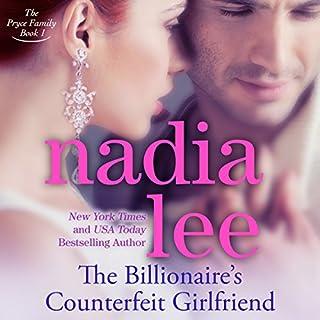 The Billionaire's Counterfeit Girlfriend audiobook cover art