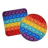 2PCS Pincez Sensorielle Jouet Push Pop Bubble Fidget Sensory Toy, Autisme Besoins Spéciau...