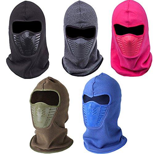 Moppi Männer Frauen Winter Neck Face Mask Unisex Thermo Fleece CS Hut Ski Hood Helm Caps