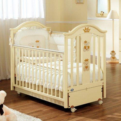 Pali Kinderbett Teddy mit Krone mit Spieluhr & Movement Base für Schaukelbewegung