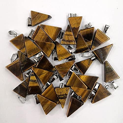 WANM Colgante Triangular De Piedra Natural para Joyería Que Hace Accesorios para Hombres
