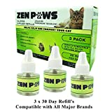 Zenpaws Diffuser Cat Relaxant Refill - Compatibility : Refills fit and are Compatible with...