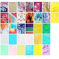 rosenice 32ピース炎反射ネイルステッカーホログラフィック火炎ネイルアートデカールネイルステンシルマニキュアフェイスボディステッカー用diyネイルアート装飾