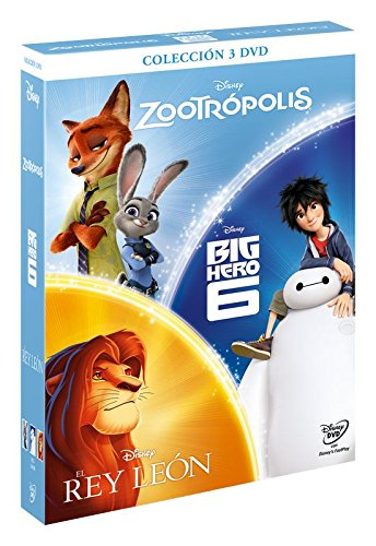 Pack: Chicos Zootrópolis + Big Hero + Rey Leon [DVD]