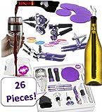26-teiliges Wein Zubehör-Set für Damen von leprene. violett