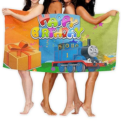 Thomas And Friends - Toalla de playa de microfibra (80 x 130 cm, gruesa, suave y absorbente, toalla de mano, toalla de baño, toalla de baño