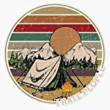 Love Camping I Hate People Vintage Retro Funny Sticker Vinyl Decal Wall Laptop Window Car Bumper Sticker 5'