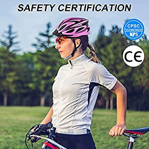 Zacro Adult Bike Helmet - Cycle Helmet, Specialized for Women Safety Protection, Collocated with a Headband, Pink Plus Purple Helmet