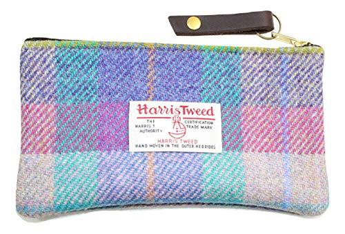 Harris Tweed Geldbörse Kosmetik Make-up Tasche Purple Heather Plaid