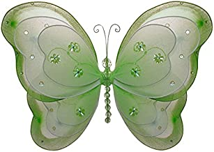 "The Butterfly Grove Alex is Butterfly Decoration 3D Three Layered Hanging Mesh Nylon Decor, Green Honeydew, Small, 7"" x 5"""