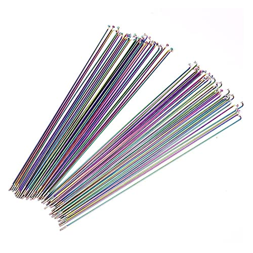 GLADMIN 12pcs Bicycle Spoke Wire Vacuum Pating Rainbow Mountain/Road Bike Stainless Steel 2.0MM 26 29 27.5 Inches Bicycle Spoke (Color : Length 293mm)