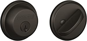 Schlage B60N622 Deadbolt, Keyed 1 Side, Matte Black