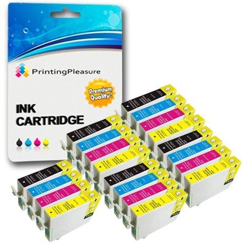 20 Druckerpatronen für Epson Stylus D68, D88, D88 Plus, DX3800, DX3850, DX3850 Plus, DX4200, DX4250, DX4800, DX4850, DX4850 Plus | kompatibel zu Epson T0611, T0612, T0613, T0614 (T0615)