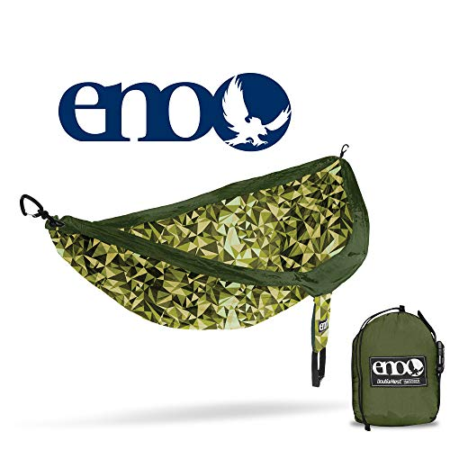 ENO - Eagles Nest Outfitters DoubleNest Print Portable Hammock for Two, Geo/Green