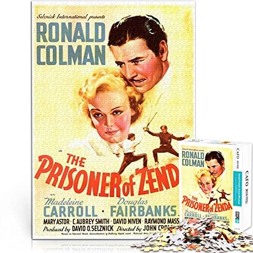 Poster puzzle Serie di poster di film prigioniero di zenda 52x38cm Legno Medio 1000 Pezzi Puzzle art deco poster del film