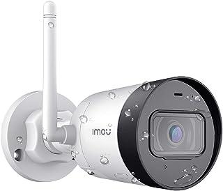 Imou Cámara de Vigilancia WiFi Exterior 1080P con 4.5dBi Anterna Externa Cámara de Seguridad IP67 Impermeable con Visión Nocturna de 30m Audio Bidireccional Detección de Movimiento Work with Alexa