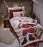 Catherine Lansfield Retro Santa - Biancheria da letto, Piumone, King Size