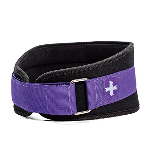 Harbinger Women's Nylon Weightlifting Belt with Flexible Ultralight Foam Core, 5-Inch, Purple, X-Small