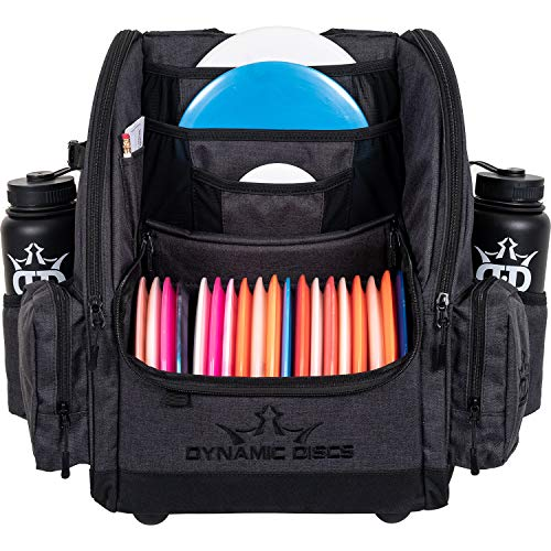 Dynamic Discs Commander Backpack Disc Golf Bag | 20 Disc Capacity | Two Deep Storage Pockets | Two Water Bottle Holders | Frisbee Disc Golf Backpack Bag (Atomic Red)