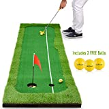 Abco Tech Synthetic Turf Putting Practice Indoor Golf Mat – Life-Like...