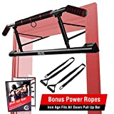 IRON AGE Pull Up Bar for Doorway - Angled Grip Home Gym Exercise Equipment - Pullupbar with...