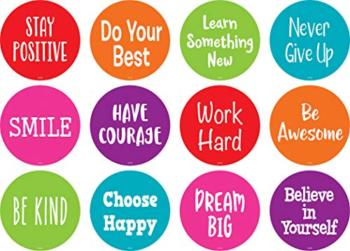 """Spot On Floor Markers: Positive Sayings - 4"""" (TCR77509)"""