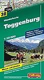 Wanderkarte Toggenburg 1:50 000, Blatt 38, wasser- und reißfest (Hallwag Wanderkarten)