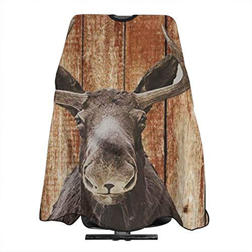 Capa de corte de pelo rstica de madera de alce animal granja personalizada corte de pelo saln peluquera cubierta para corte de pelo hogar peluquera envoltura delantal