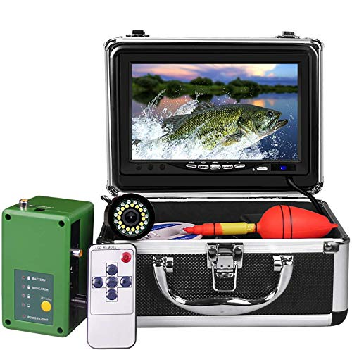 Underwater Fishing Camera, Portable Ice Fish Finder with 30 Adjustable LEDs and 7inch 1080P IPS...