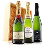 Ultimate Champagne Celebration Trio in Wooden Gift Box - 3 Bottles (