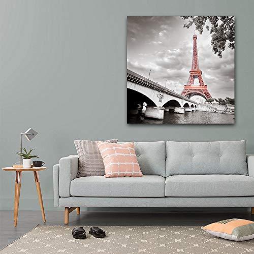 wall26 - Eiffel Tower in Paris France - Canvas Art Wall Art - 16x16