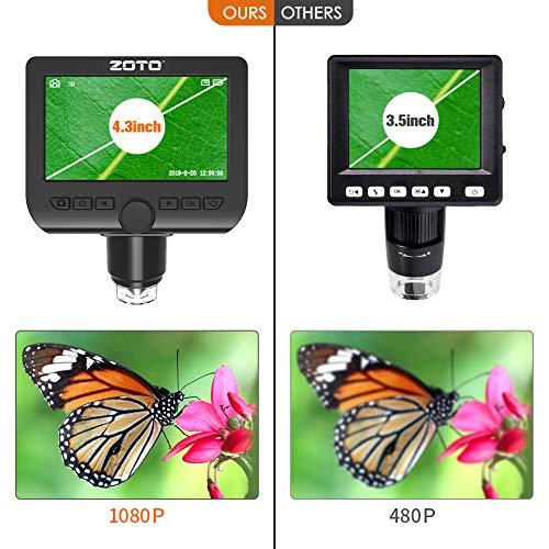 ZOTO WiFi & USB LCD Digital-Mikroskop 1000x Erfahrungen & Preisvergleich