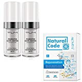 2 Pack TLM Flawless Colour Changing Foundation + 5 Pack Rejuvenation Moisturizing Facial and Neck Mask