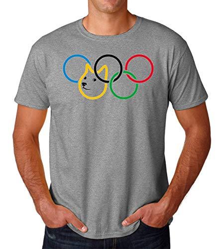 Olympic Olympischen Rings Dog Doge Meme Colorful Men's T-Shirt Herren Tshirt XX-Large