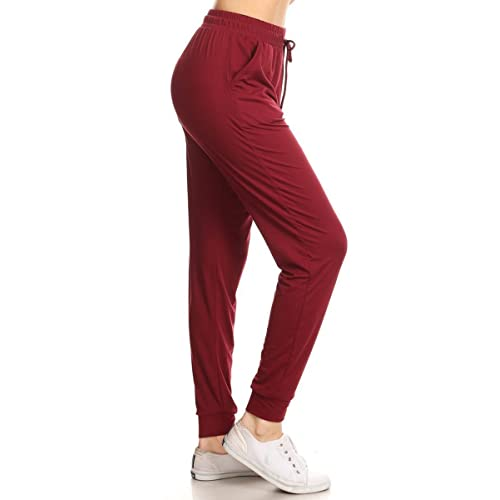 2a1147df30642 Leggings Depot Women's Printed Solid Activewear Jogger Track Cuff  Sweatpants Inner Pockets