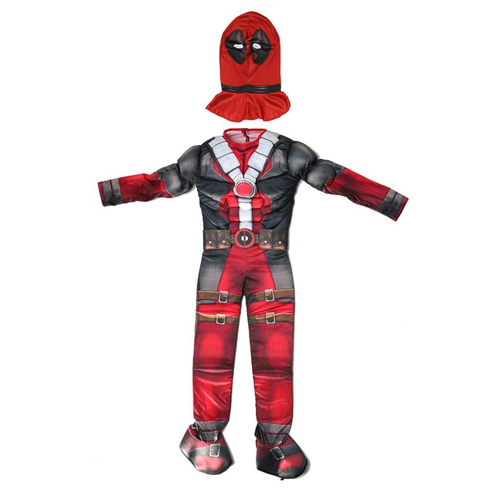 Deadpool Cosplay Deluxe Costume Halloween Superman X-Men Hero Mono ...