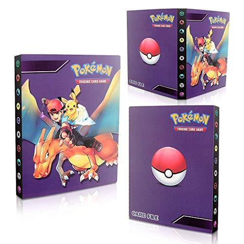 Porte Carte Pokemon, Pokémon Carte Album, Classeur pour Pokemon, Livre de Cartes Livre de Cartes de Collection Pokémon, 30 Pages Capacité de 240 Cartes