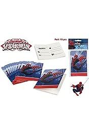 Amazon Es Spiderman Invitaciones Artículos De Fiesta