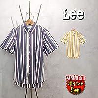 [リー] シャツ (LT0629-2XX) ストライプ半袖シャツ メンズ L ブルー(242)