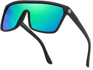 Pteng - Gafas de sol deportivas polarizadas con personalidad para hombre, gafas de sol de ciclismo con montura irrompible, gafas deportivas para exteriores a prueba de viento para conducir