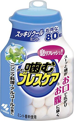 噛む ブレスケア ボトル スッキリ クールミント 80粒