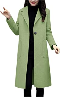 Funnygals - Womens Ladies Coats Waterfall Long Full Sleeves One Button Open Front Cape Cardigan Jacket Trench Coat Size