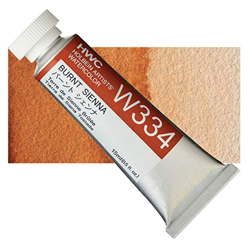 Holbein Artist's Watercolor 15ml Tube (Burnt Sienna) W334