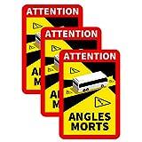 GULASISI Hinweisschild' Angles Morts' für Frankreich | als Aufkleber Oder Magnetisch | Mit LKW Oder Bus-Motiv | 250 x 170 mm | (Offizielles Lizenzprodukt) Warnung vor Totem Winkel