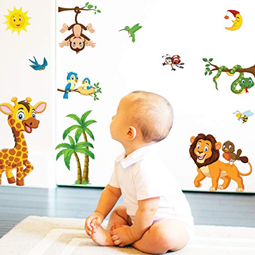Animals Wall Stickers for Kids - Baby Room Decor Wall Sticker