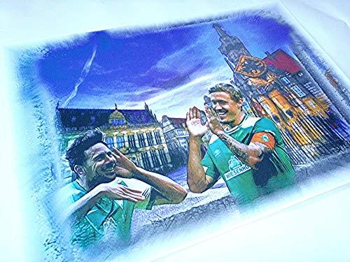 MAX KRUSE und CLAUDIO PIZARRO auf einem tollen Kunstdruck -direkt vom Künstler 30cm x 42cm