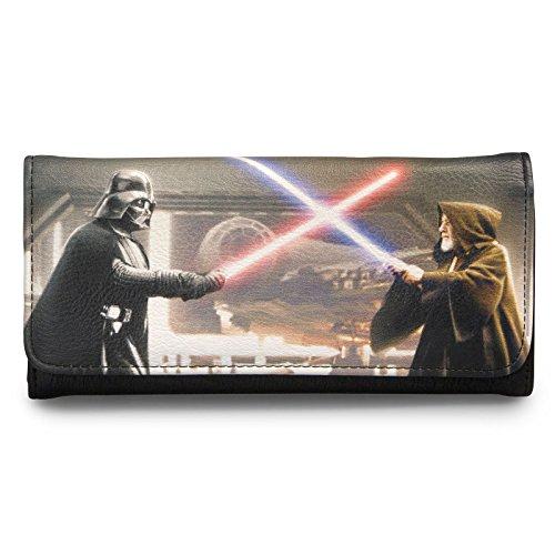 Star Wars Gedbörse Darth Vader & Obi Wan Damen von Loungefly schwarz