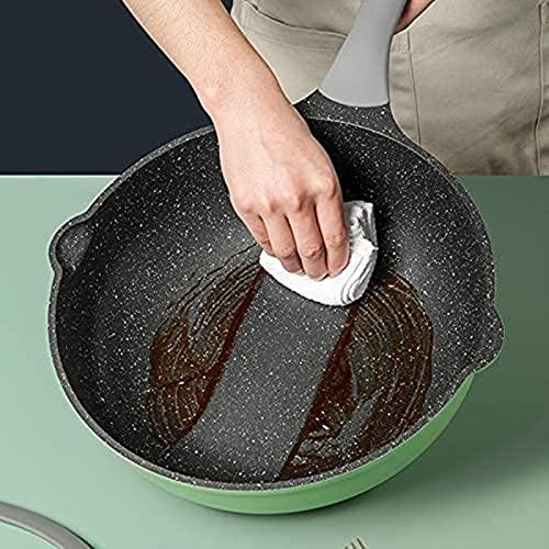 sartén para cocinar Wok, Wok Antiadherente Premium Serie Verde Wok con Tapa, 30/32 cm, Mango Resistente al Calor, Tipo de inducción, Respetuoso con el Medio Ambiente