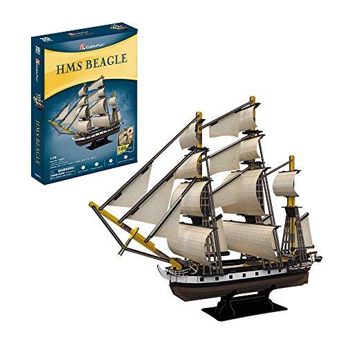 CubicFun Puzzle 3D Ĺťaglowiec HMS Beagle 168 el. [PUZZLE]